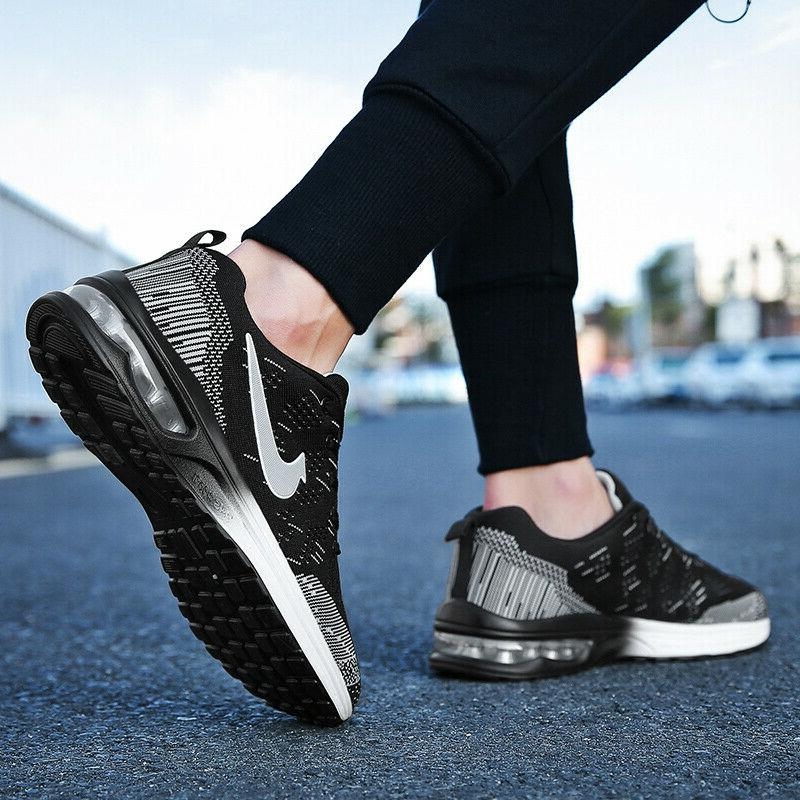 Womens Flyknit Cushion Shoes Casual Athletic Running Shoes