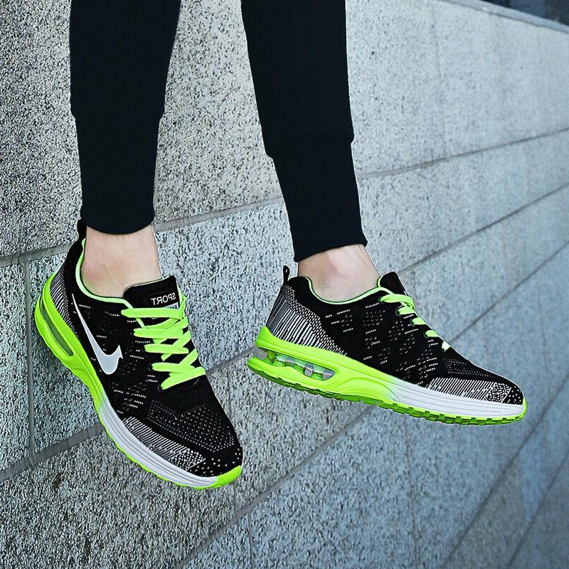 Womens Flyknit Sneakers Cushion Tennis Shoes Casual Athletic Shoes