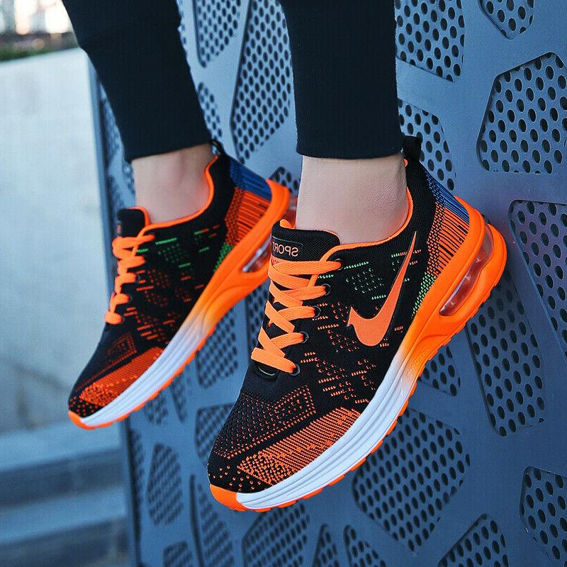 Womens Flyknit Sneakers Cushion Tennis Shoes Athletic