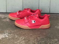 Champion Life Mens 3 on 3 Low Tennis Shoe Red,  New without