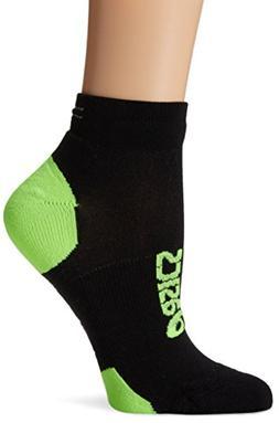 ASICS Lite-Show Nimbus Low Socks, Black/Green Gecko, Small