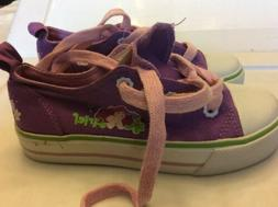 Disney Little Mermaid Girls Canvas Tennis Shoes Ariel Size L