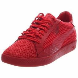Puma Match Low Stutter Stripe Tennis Shoes - Red - Womens