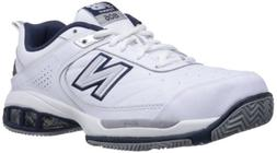 New Balance Men's mc806 Tennis Shoe, White, 10 B US