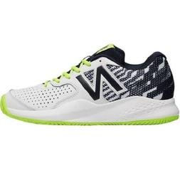 NEW BALANCE MCH696H3 MEN'S WHITE/GREEN 696v3 TENNIS SHOES