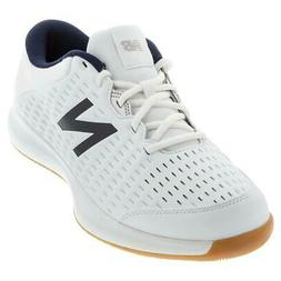 New Balance Men`s 696v4 D Width Tennis Shoes White and Navy