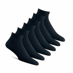 BERING Men's Athletic Ankle Socks with Arch Band  Black
