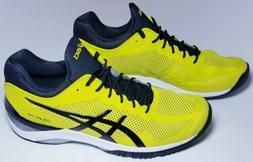 Asics Men's Court FF Tennis Shoes Size 11.5, Yellow, E700N