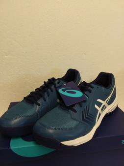 ASICS Men's Gel-Dedicate 5 Tennis Shoe - Azure/lWhite Size 1