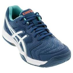 Asics Men`s GEL-Dedicate 6 Tennis Shoes Mako Blue and White