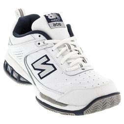 NEW BALANCE   Men`s MC806 D Width Tennis Shoes White