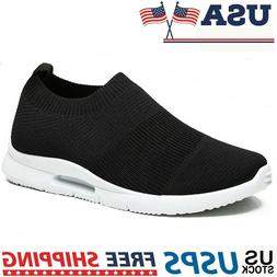 Men's Running Shoes Casual Breathable Lightweight Slip-on Te