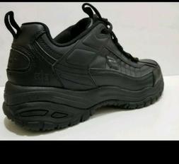 Men's Skechers Soft Stride Galley Safety Work Shoe All Black