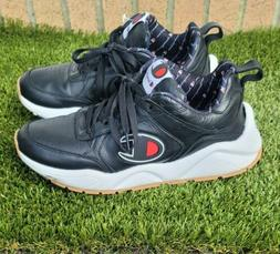 CHAMPION Men's93Eighteen Casual Leather Tennis Shoes  Black