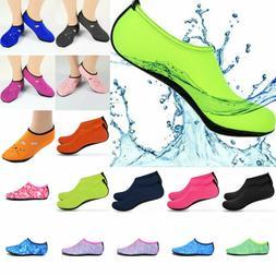 Men Women Aqua Socks Sports Swimming Water Pool Shoes Barefo