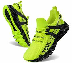 UMYOGO Mens Athletic Walking Blade Running Tennis Shoes Fash