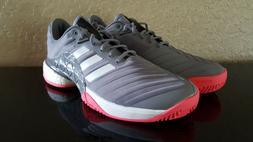Adidas Mens Barricade 2018 Boost Tennis Shoes Grey/Scarlet D