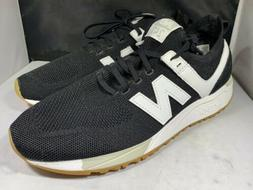 New Balance Men's MRL247DY black and white tennis shoes si