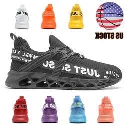 Mens Running Shoes Athletic Tennis Walking Light Non-slip Gy