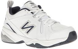 New Balance Men's MX608v4 Training Shoe, White/Navy, 10 4E U