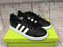 Adidas Neo Womens Black Leather Cloudfoam Advantage Tennis S