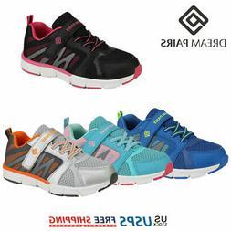 DREAM PAIRS Kids Boy Girl Fashion Sneakers Mesh Upper Outdoo