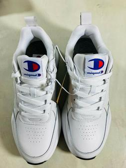 New Men's Champion 93Eighteen Casual Leather Tennis Shoes Wh