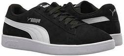 New Puma Men's Suede Smash Black White Casual Retro Sneakers