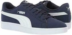 New Puma Men's Suede Smash Navy White Casual Retro Sneakers