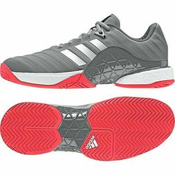 NEW Men's Adidas Barricade Boost AH2094 Grey/White/Pink Te