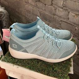 NEW Women's Skechers Arya Air-Cooled Memory Foam Blue Slip-O