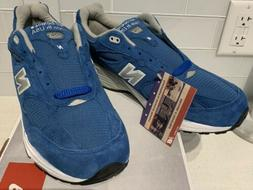 NIB New Balance 993 Running Shoes Made In USA Blue Suede US9