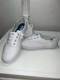 NIB Keds Champion White Canvas Sneakers Tennis Shoes Ortholi