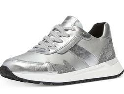 NIB Size 10 Michael Kors Monroe Leather Trainer Sneakers Met