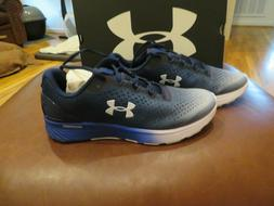 NWT Mens Blue & White Under Armour Charged Bandit 4 Tennis S