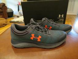 NWT Mens Gray & Green Under Armour Charged Bandit 5 Tennis S
