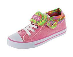Gotta Flurt Girls' Option Hi,Pink Canvas/Glitter,US 1 M