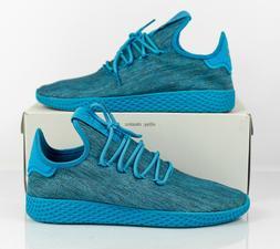 Adidas Pharrell Williams Tennis HU PW Shoes Aqua CQ2163 Dyed