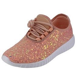 Forever Link Women's Remy-18 Glitter Sneakers   Fashion Snea