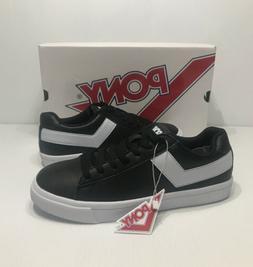 PONY Retro Mens Shoe Classic Low Top 9 M Black White Leather