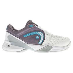 Head Women's Revolt Pro Tennis Shoe- White/Cyan/Blue- 7.5