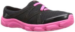 Easy Spirit Women's Riptide Mule,Black/Pink,11 M US