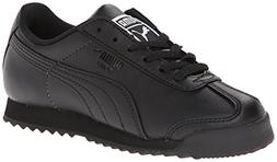 PUMA Roma Basic JR Sneaker  , Black/Black, 3 M US Little Kid