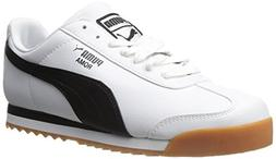 PUMA Men's Roma Basic Fashion Sneaker, White/Black - 8 D US