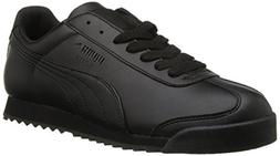 PUMA Women's Roma Basic Sneaker,Black/Black,8.5 B US