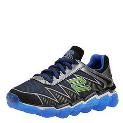 Skechers Boys' Skech-Air Turbo Drive Sneaker,Black/Blue/Lime