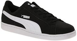 PUMA Men's Smash Buck Fashion Sneaker, Black/White, 13 M US