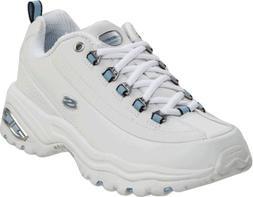 Skechers Sport Women's Premium Sneaker,White/Blue,8.5 W US