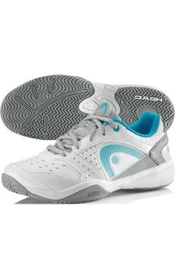 Head Sprint Junior Tennis Shoes Wht/Cyan/Grey
