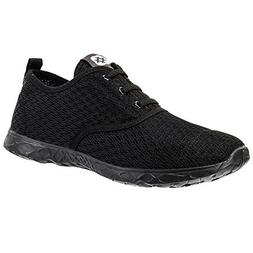 ALEADER Men's Stylish Quick Drying Water Shoes All Black 12